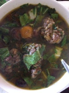Spicy Asian Meatball Soup